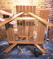attaching the legs to your diy picnic bench