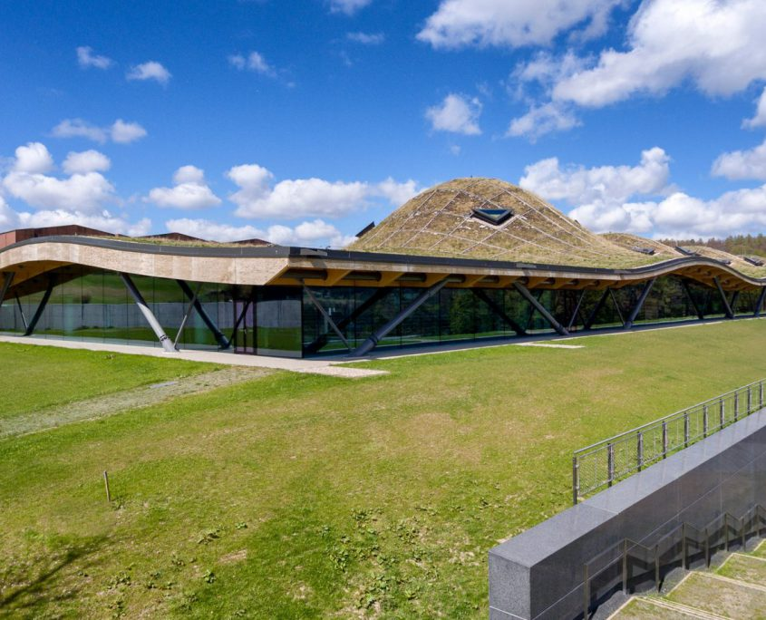 Timber Roofed Scottish distillery - A Roger Stirk Harbour + Partner creation