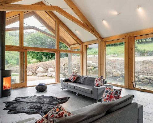 Building a timber frame extension